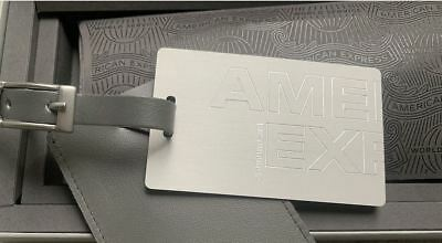 American Express Platinum welcome box incl medal luggage tag - Amex centurion