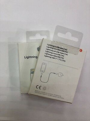 2x New Genuine Original Apple Lightning to USB Charge Cable for iPhone 6s/7+/7/8