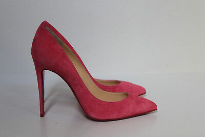 6c6e4ea62f78 New sz 9.5   40 Christian Louboutin Pink Suede Pigalle Pointed toe Pump  Shoes