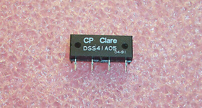 Qty (5) Dss41A05 Cp Clare Spst Reed Relay 5V 4 Pin Sip Nos