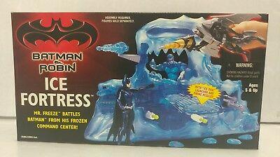 Batman & Robin MR.FREEZE Ice Fortress Action Figure Playset 1997 Kenner NEW