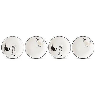 """Kate Spade Forest Drive Tidbit Plates Set/4 5.75"""" New in Box"""