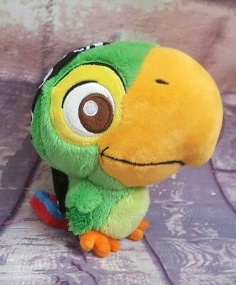 "Disney Junior SKULLY Parrot 6"" Plush Jake and the Never Land Pirates~EUC"