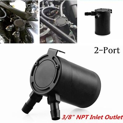 5 1//2/'/' Flawless Oil RESERVOIR CATCH CAN TANK w// BREATHER FILTER BAFFLED 7 1//2/'/'