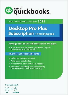 QuickBooks Desktop Pro 2019 - 1 User (PC Download + CD) SAVE $100!
