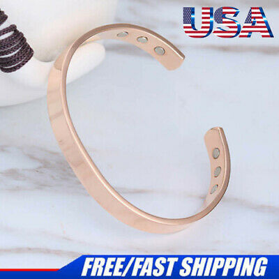 2018 New Pure Copper Magnetic Bracelet Arthritis Therapy Energy For MEN WOMEN US