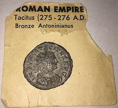 Ancient Roman Empire Coin Tacitus IA (275 - 276 A.D.) Bronze Antoninianus