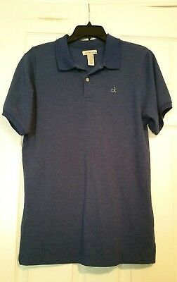 CALVIN KLEIN Jeans Boys Blue Casual Short Sleeve Polo Shirt Size XL 18 20  NWT