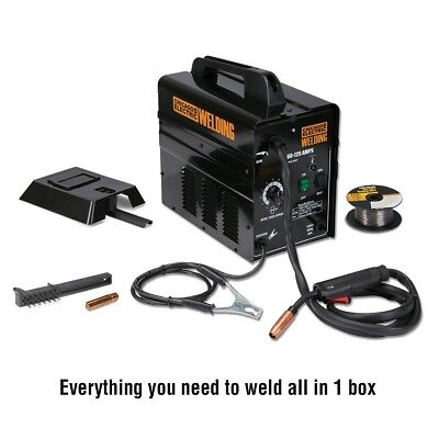 New Chicago Electric Gasless Flux 125 amps Core arc Welder Portable Lightweight