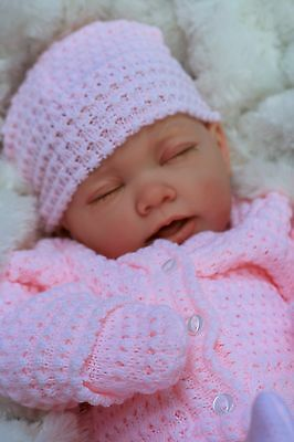 Reborn Baby Girl Doll Pink Knitted Spanish Outfit E112 - Butterfly Babies