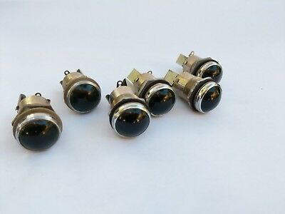 "6pcs Dialco/Dialight Panel Pilot Light Indicator Lamp 1"" Smooth Green Lens"