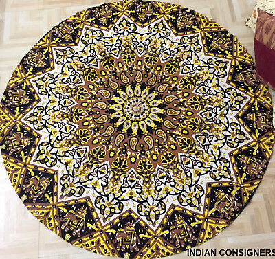 Antique Style Wall Hanging Mandala Design Small Cotton Roundies Comfortable Home