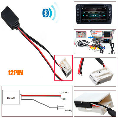 Bluetooth AUX Adapter For Mercedes W169 W245 W203 Audio 20 50 APS Comand NTG 2