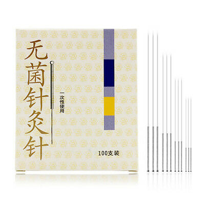 disposable acupuncture sterile needles 100pcs/box single use zhongyan AU.