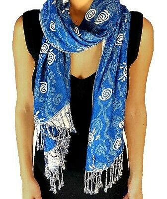 Balarinji Aboriginal Art Jacquard Scarf - Riverbed