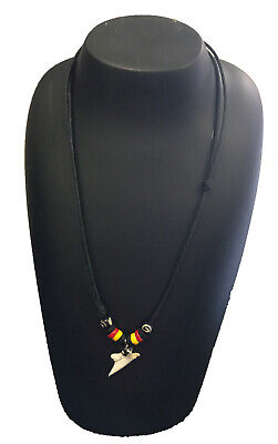Aboriginal Leather Sharktooth Necklace