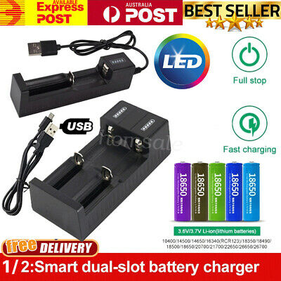 USB Lithium Battery Charger For 26650 22650 18650 18490 18350 17670