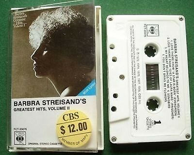 Import Barbra Streisand Greatest Hits II Cassette Tape - TESTED