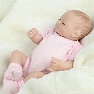 Handmade Newborn Babies Full Body Soft Vinyl Silicone Baby Girl Dolls Reborn Toy