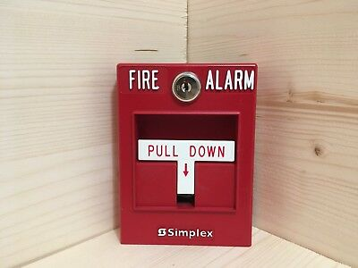 Simplex 2099-9754 Conventional Fire Alarm Pull Station Red