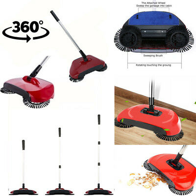 3 in 1 360° Cyclonic Broom Kehrbesen Sweeper Spin Staub Bodenreinigung Mopp