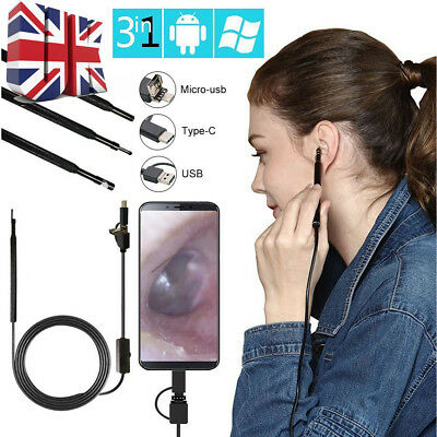 3 in 1 HD USB Ear Cleaning Endoscope Earpick With Mini Camera Earwax Removal Kit