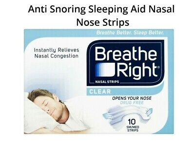 Breath Right Clear Nasal Strips 10 Tan Small / Medium Strips   2, 3, 6, 8, 12