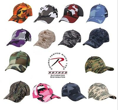 eb89a765 Camo HAT Cap Rothco Supreme Camouflage Low Profile Baseball Tactical 13  colors
