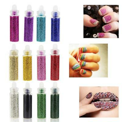 12 Colors Micro Beads Caviar Set Nail Art Decoration Metal Craft Supply Balls
