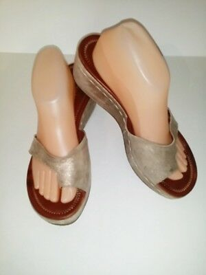 d48181e48ae0 DONALD J PLINER Salya Metallic Ladies Leather Wedge Sandals Size 10 M