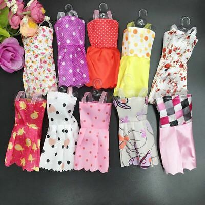 10Pcs/Lot Handmade Dress Wedding Party Mini Gown Stylish Clothes For Nice Doll