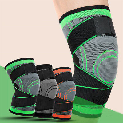 Fit Running Jogging 3D Weaving Knee Brace Pad Support Protects Compression S-XL