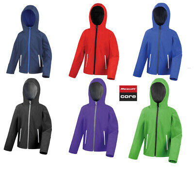 RESULT HOODED SOFTSHELL JACKET WATRPROOF LINED REFLECTIVE DURABLE COAT MEN/'S NEW