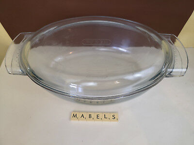 PYREX ~CLASSIC EASY GRIP~ glass oval casserole dish 4.5L