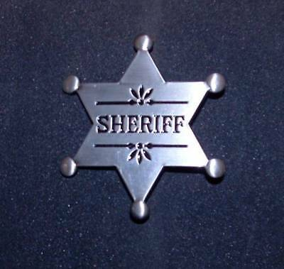 Antique Silver Sheriff Western Style Replica Badge FREE SHIPPING.