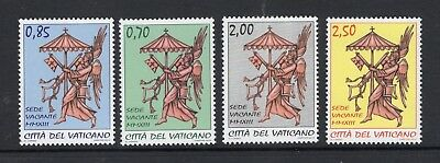 VATICAN CITY 2013 SCOTT NH 1519-22 Angel Sede Vacante Arms - FreeUSAShipping