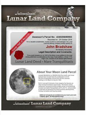 LUNAR LAND - Buy Your Own Piece of Land on The Moon - Share Certificate