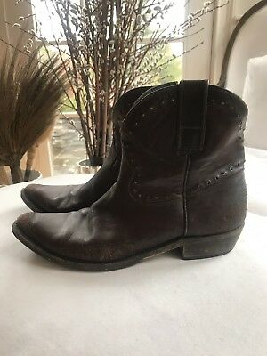 Rare Golden Goose Brown Western Cowboy Boots $1,150 Retail 41 / US 10.5