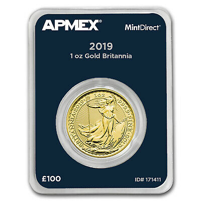 2019 Great Britain 1 oz Gold Britannia (MintDirect® Single) - SKU#171411
