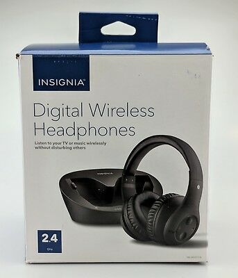 Insignia Digital Wireless Over the Ears Headphones for TV and Audio Devices New
