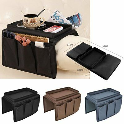 Sofa Chair Arm Rest Organiser Holder Couch Remote Control Pocket Storage Tray