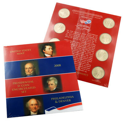 2008 U.S. Mint Presidential $1 dollar coin uncirculated set, still mint sealed