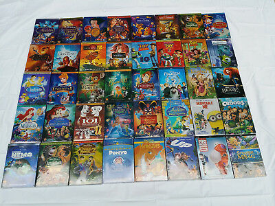 Pick Any 18 Disney DVDs:Aladdin,Snow White,Sleeping Beauty,Pinocchio,Brave,UP...