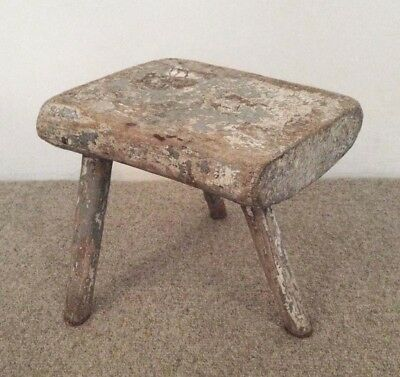 Milking Stool, authentic primitive/antique, hand-made, folk art