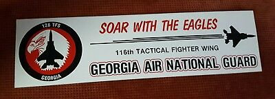 116th Tactical Fighter Wing Georgia Air National Guard 128 TFS ....decal sticker