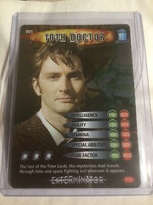 Dr Who - Battles in Time (BiT) - Test Set - Rare - 10th Doctor - 01/85
