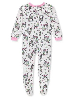Sweet N Sassy Girls' 1-Piece Footed Pajamas