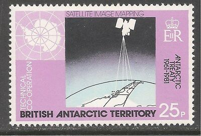British Antarctic Territory #84 (A10) VF MNH - 1981 25p Satellite Image Mapping