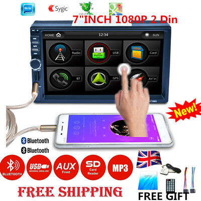 "6.2"" Double 2 Din Car Stereo GPS Navigation HD DVD Player Bluetooth for iPod MP3"