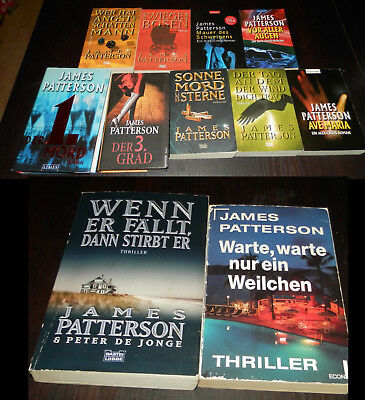 11 x James Patterson - Alex Cross - Lindsay Boxer - atemlose Spannung